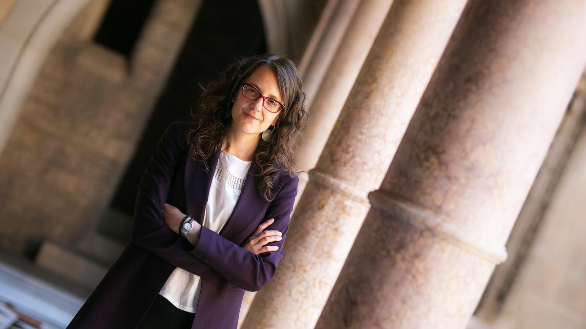 Tania Verge, consellera de Igualtat i Feminismes de la Generalitat de Catalunya, el pasado miércoles en el Palau de la Generalitat.