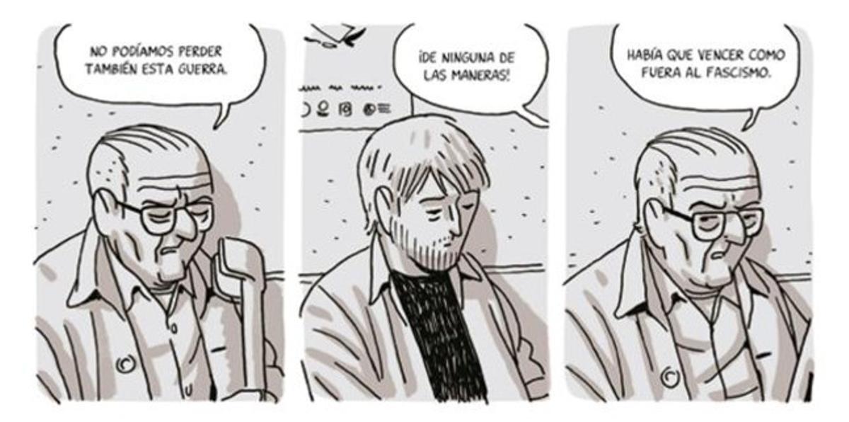 Viñeta de 'Los surcos del azar', de Paco Roca.
