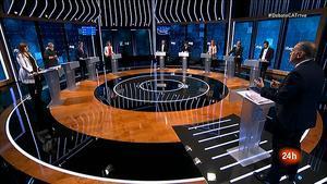 Los candidatos a las elecciones catalanas, en el debate de TVE.