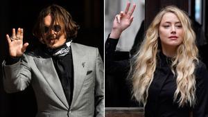 Johnny Deppy y Amber Heard, a su llegada, este martes, a la Alta Corte de Londres.