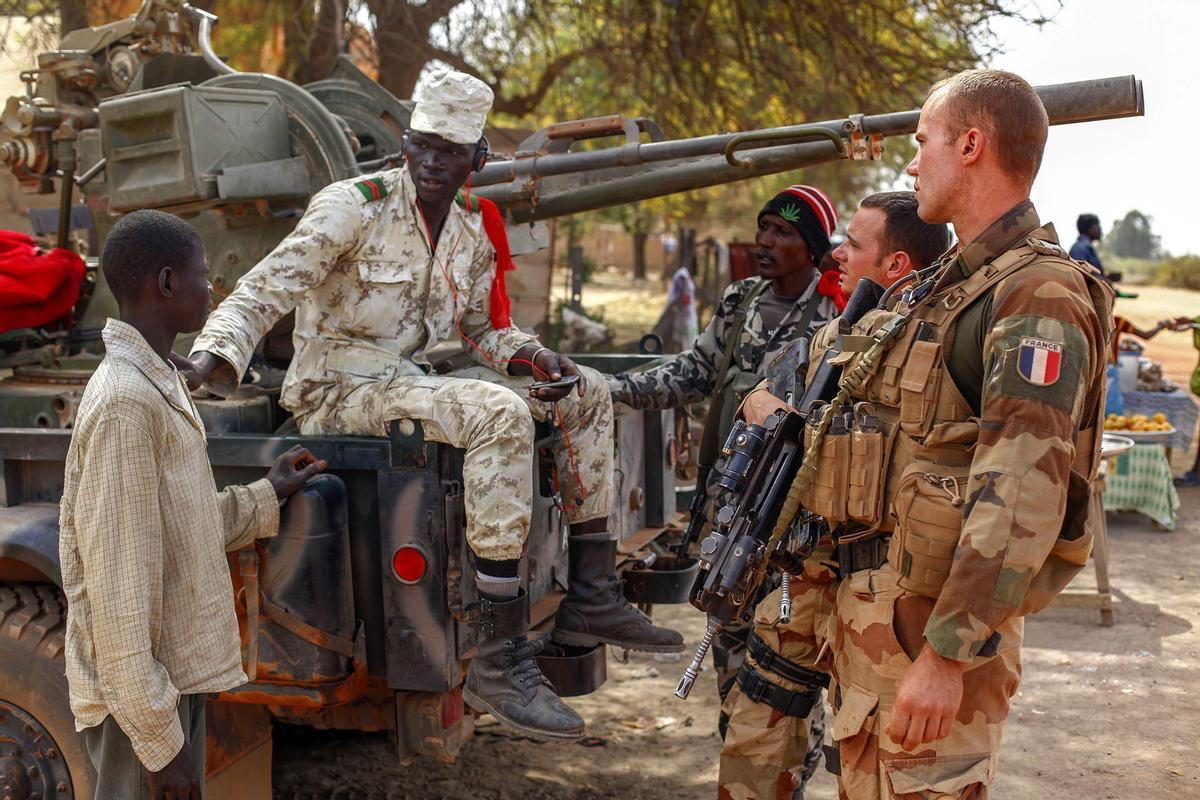 Militares franceses en Malí.