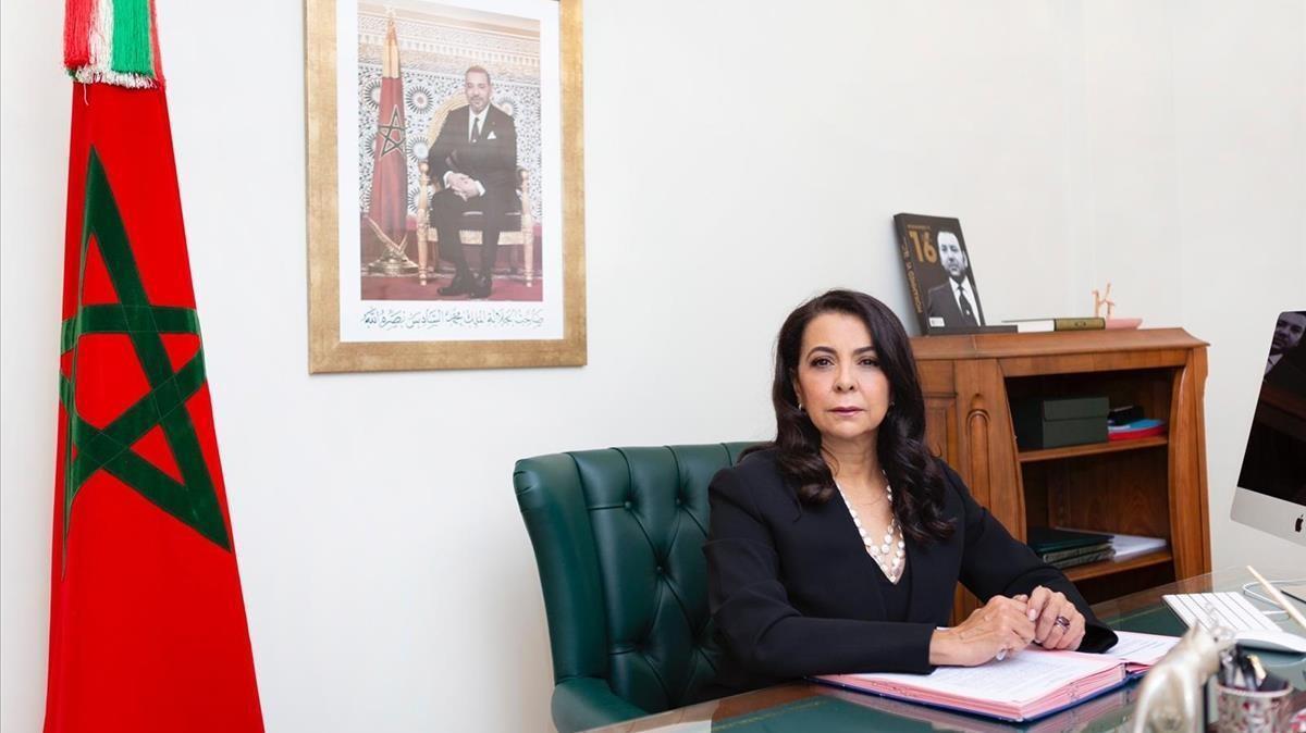 11 12 2020 La embajadora de Marruecos en Espana  Karima Benyaich  EUROPA MAGREB AFRICA ESPANA MARRUECOS POLITICA  EMBAJADA DE MARRUECOS EN ESPANA