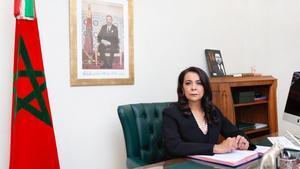 La embajadora de Marruecos en España, Karima Benyaich, el pasado día 11.