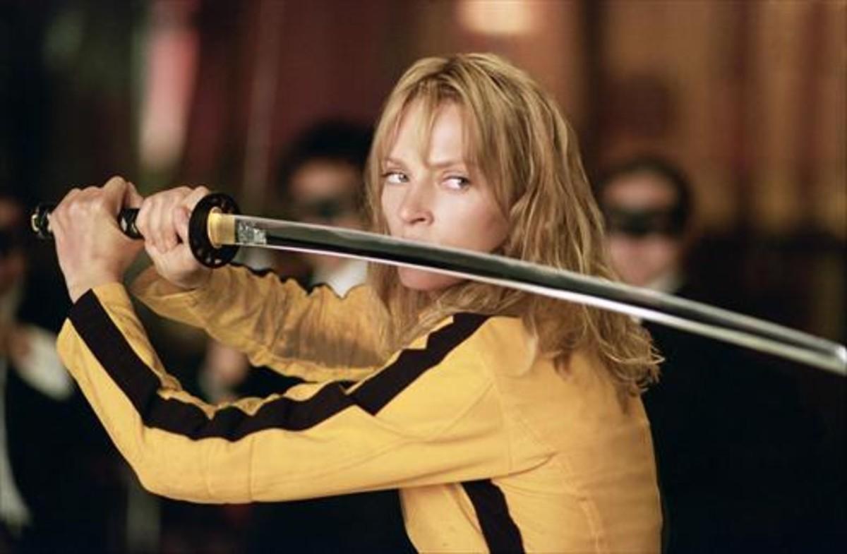 Uma Thurman, interpretando a La Noviaen 'Kill Bill'.