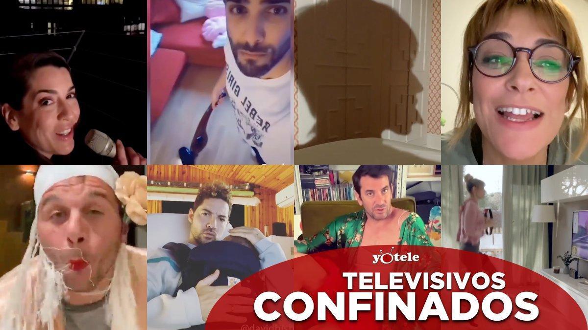 Algunos de los televisivos que han mostrado cómo se entretienen en su confinamiento.