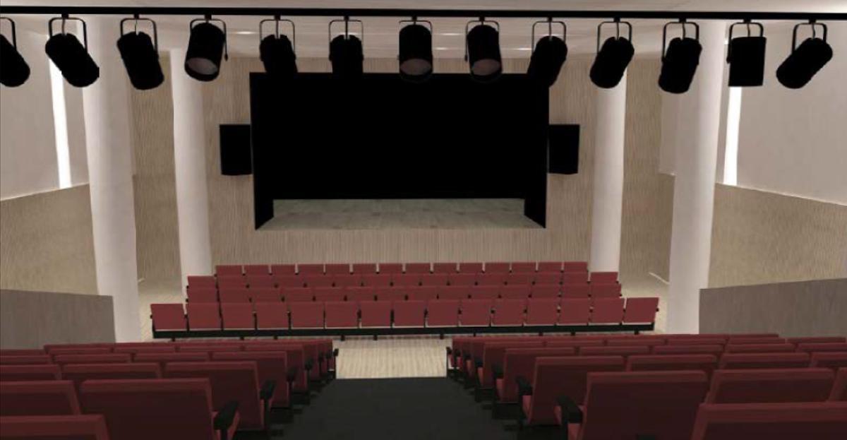 Recreación del nuevo auditorio del Casal de Cultura Robert Brillas de Esplugues