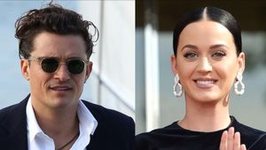 Katy Perry y Orlando Bloom.