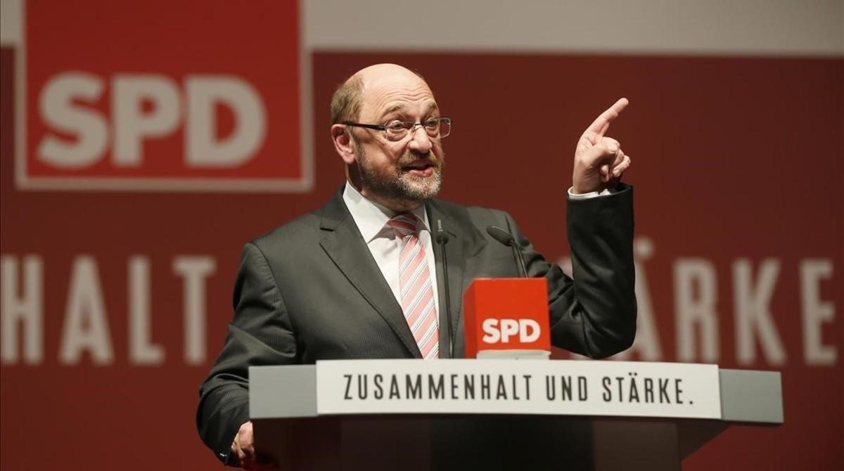Martin Schulz, en un acto del partido en Orscholz.
