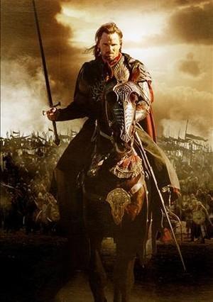 El actor Virgon Mortensen, en el papel de Aragorn, protagonista de la saga de 'El señor de los Anillos', dirigida por Peter Jackson.