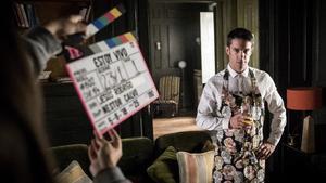El actor Alejo Sauras, en el rodaje de la segunda temporada de 'Estoy vivo' (TVE-1).