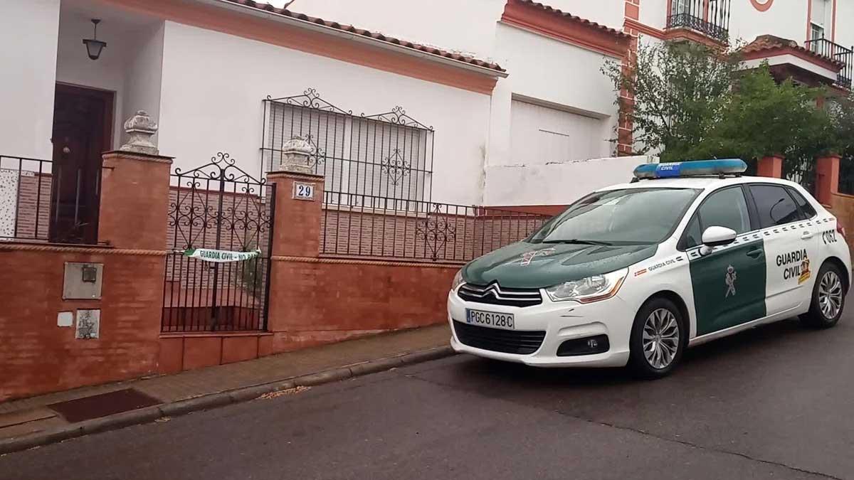 La casa del detenido por la desaparición de Manuela Chavero.