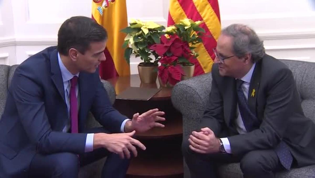 El presidente del Gobierno, Pedro Sánchez, ha propuesto constituir el lunes 24 de febrero la mesa de diálogo pactada con el Govern catalán para empezar a hablar del conflicto político en Cataluña