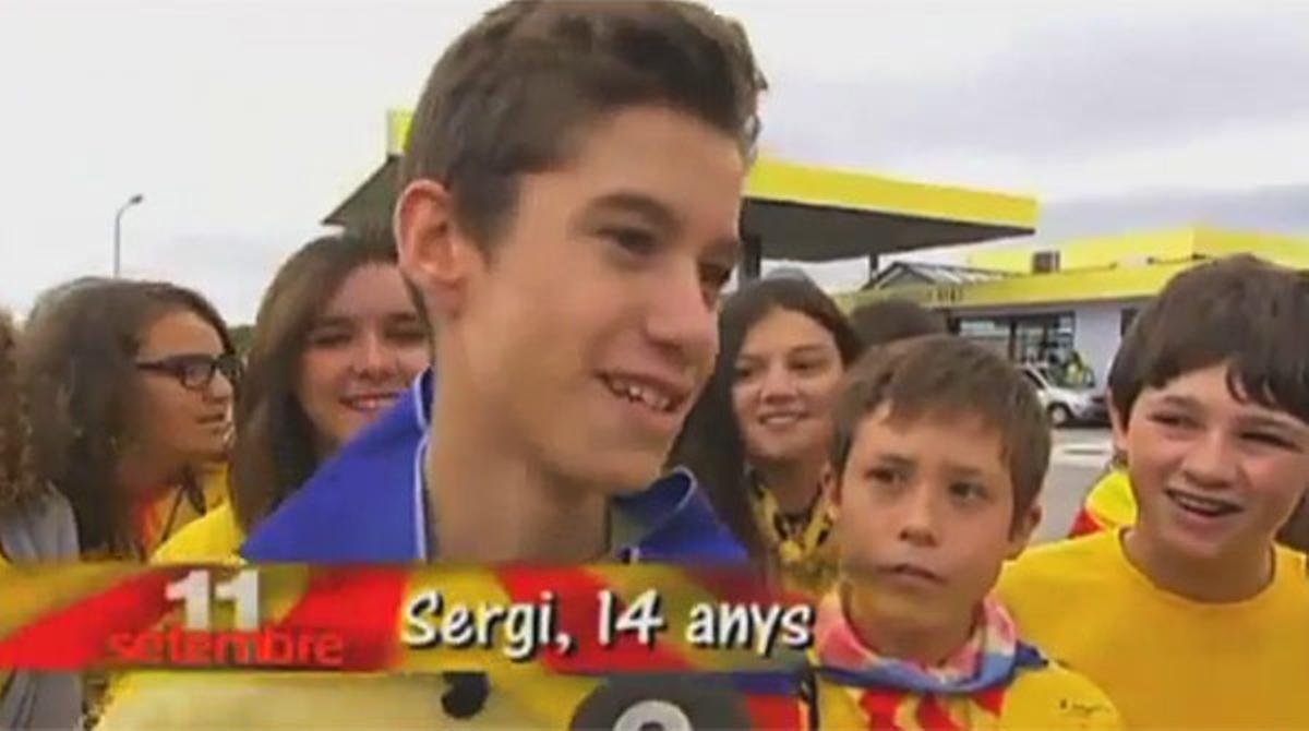 Reportaje sobre la Via Catalana en el informativo infantil 'Info K' de TV-3