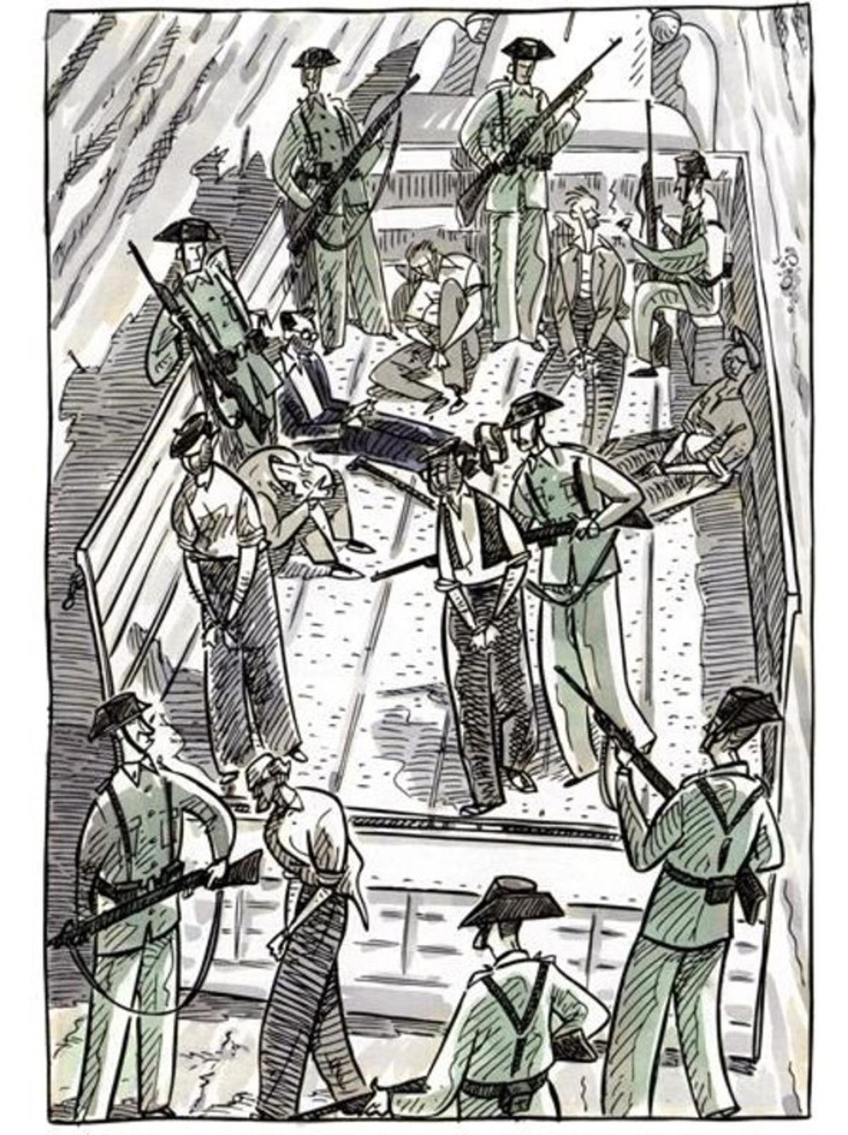 Páginade 'Dr. Uriel', el cómic de Sento sobre la experiencia de su suegro médico durante la guerra civil.