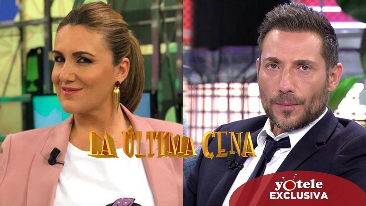Carlota Corredera y Antonio David Flores, cocineros rivales en la nochevieja de 'La última cena'