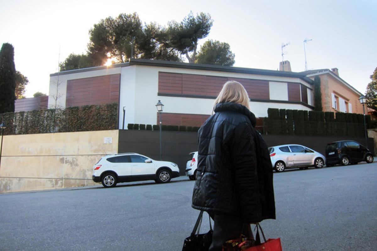 La casa de Iñaki Urdangarin y la infanta Cristina en la calle Elisenda Pinós de Perdralbes.