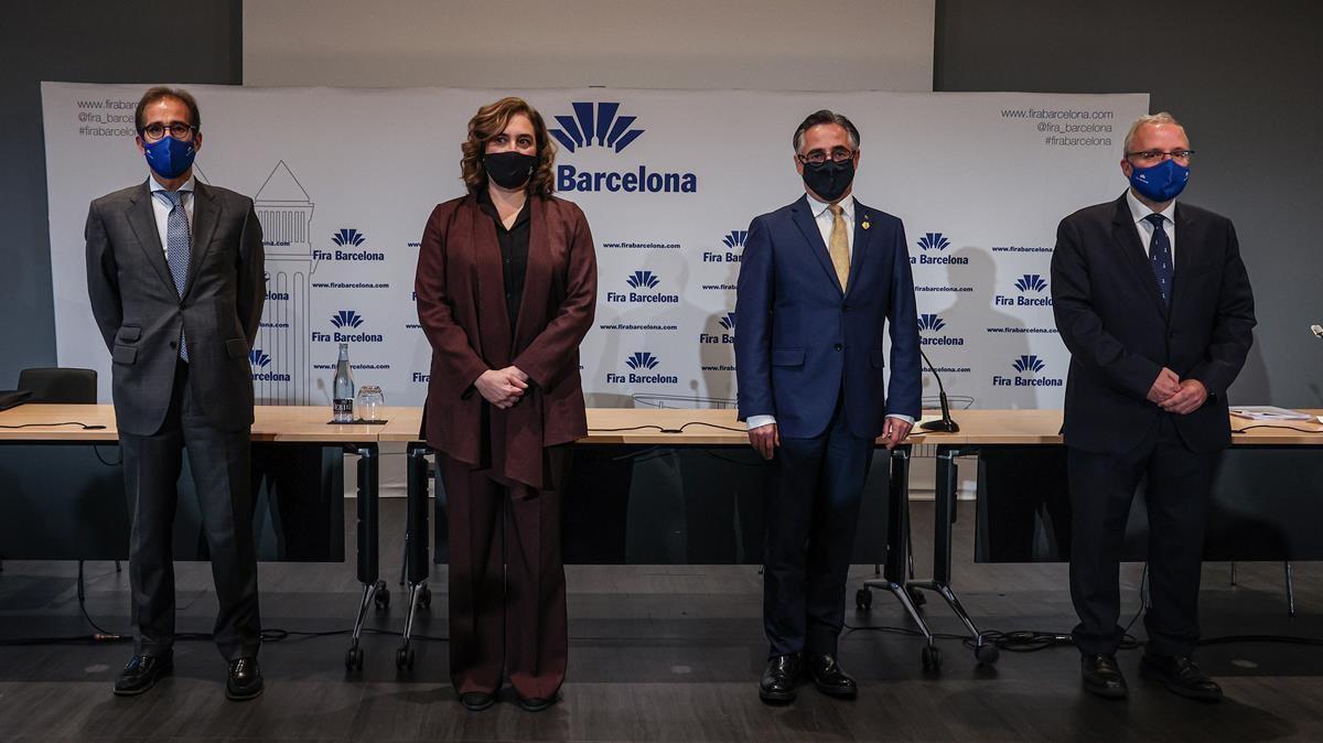 Pau Relat, Ada Colau, Ramon Tremosa y Agustí Serrallonga.