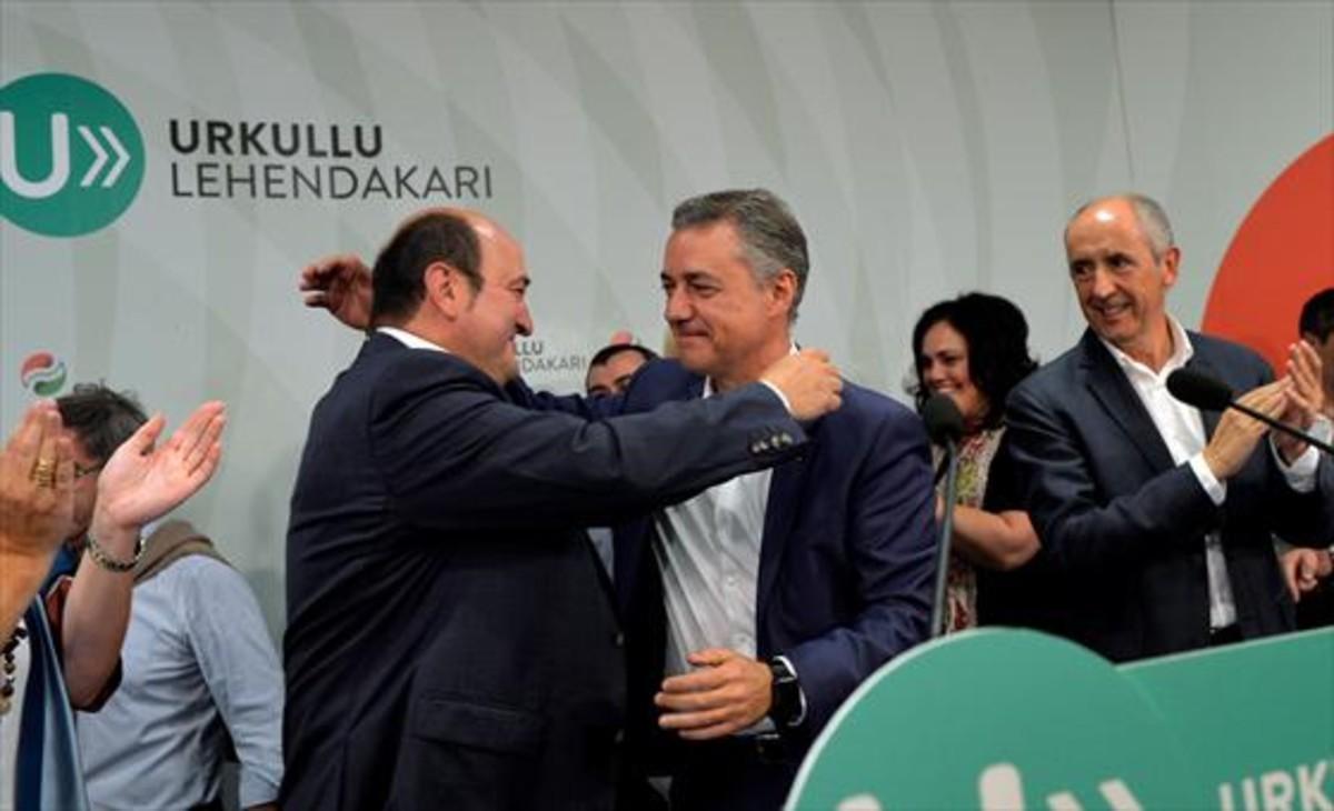 Andoni Ortuzar, presidente del PNV, confía en que la investidura de Iñigo Urkullu sea antes de diciembre