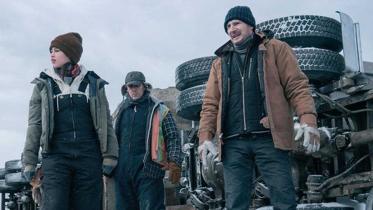 Crítica de 'The ice road': Neeson perdido en el hielo