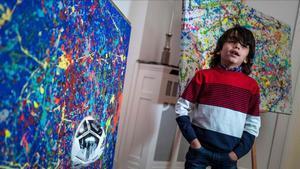 Mikail Akar de 7 años apodado el mini Picasso.