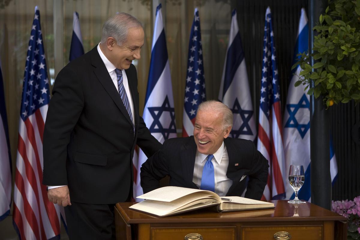 El israelí Benjamin Netanyahu y el norteamericano Joe Biden, en una imagen de archivo.