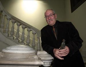 Andreu Martín, este miércoles en el Departament d'Interior, tras recibir el Premi Crims de Tinta.