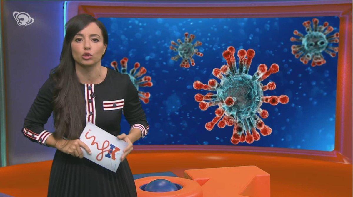Laia Servera, en el plató del 'Info K'.