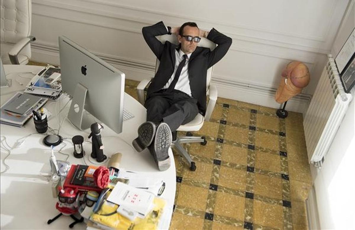 Risto Mejide, en su despacho de Aftershare.tv.