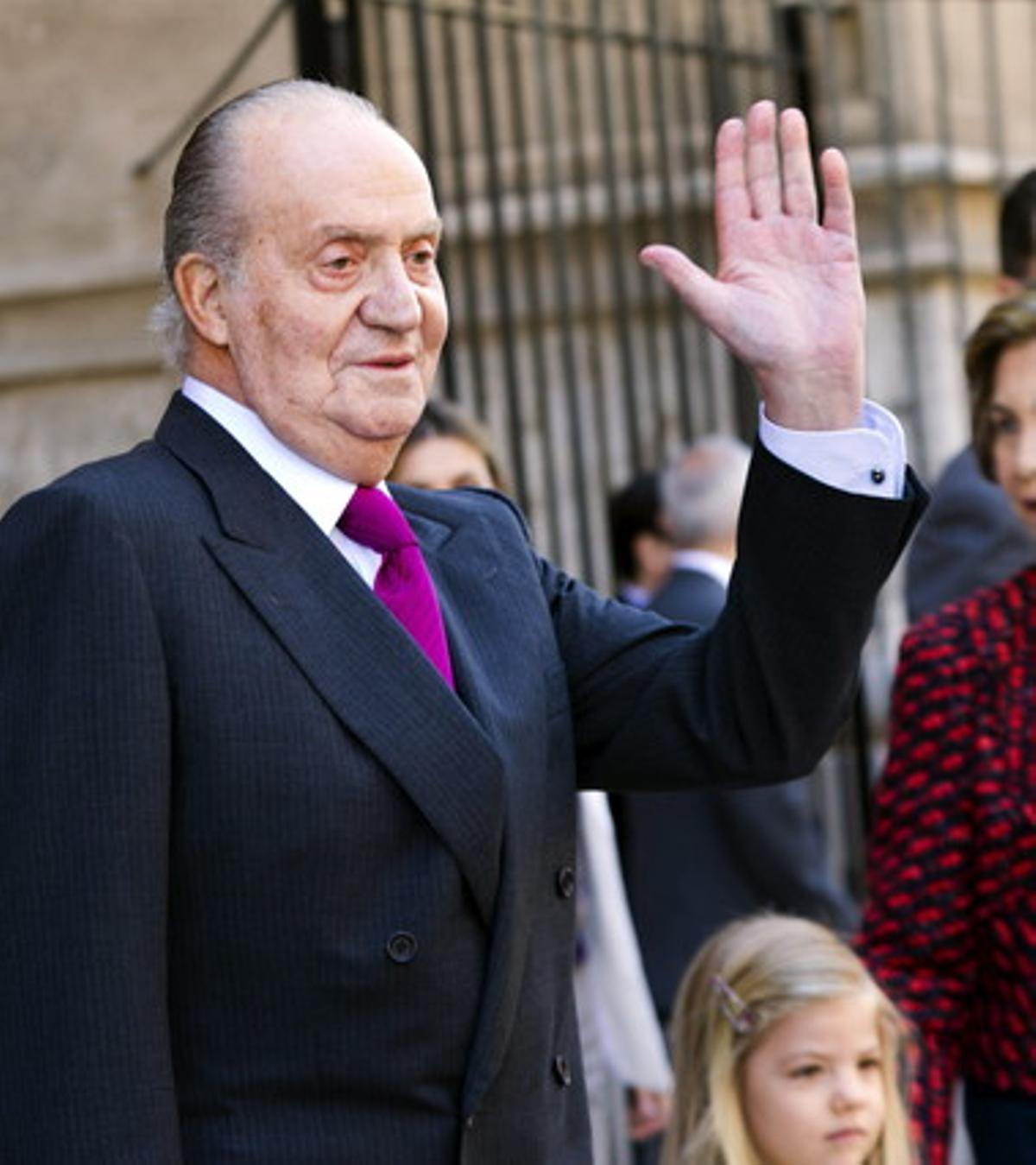 El rey Juan Carlos durante un acto el pasado mes de abril en Palma.