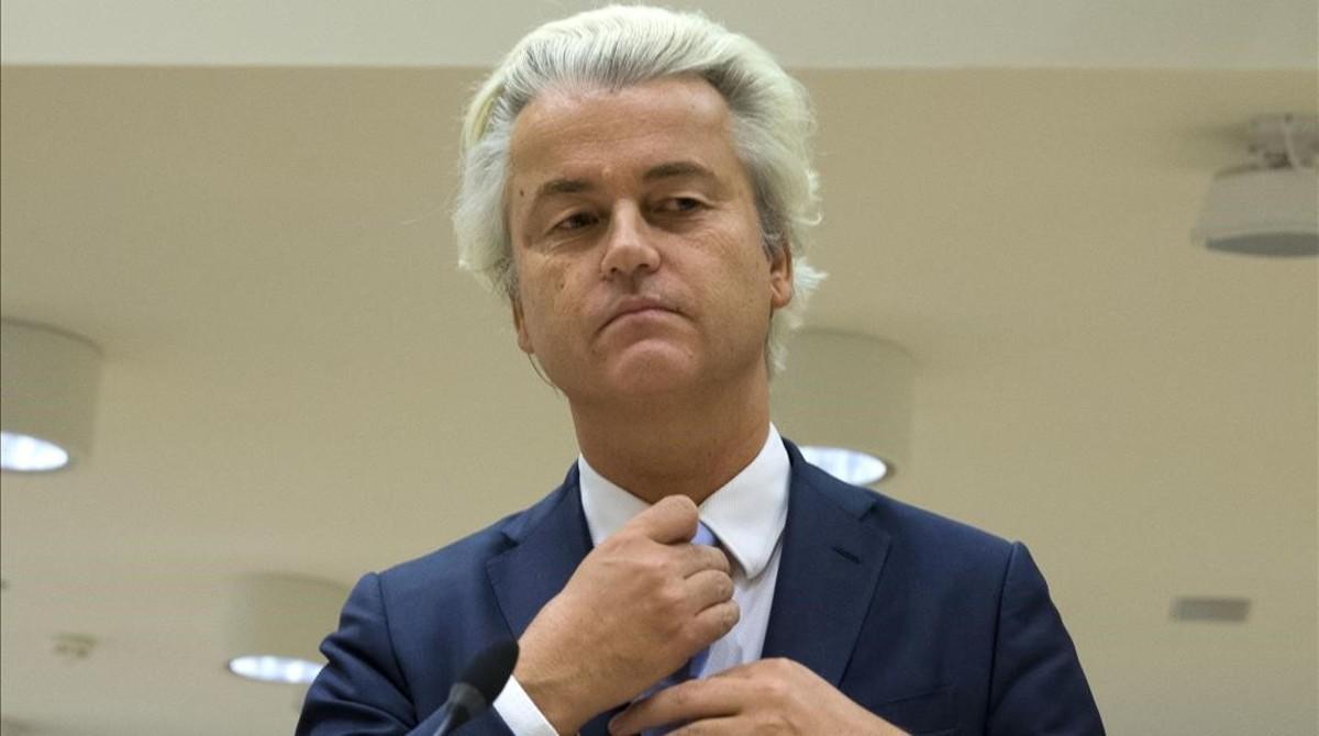 Geert Wilders ante el tribunal.