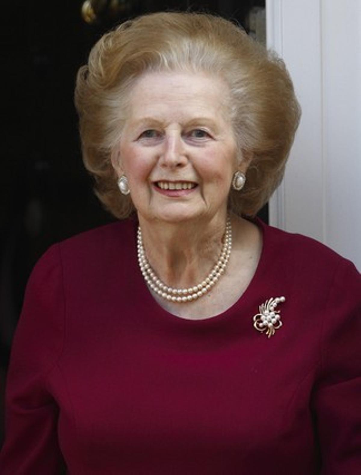 La ex primera británica Margaret Thatcher, en el 2010.