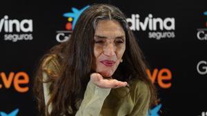 Ángela Molina, en la Academia del Cine Español.