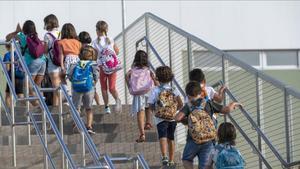Vuelta al cole en la escuela Sant Llàtzer de Tortosa (Baix Ebre)