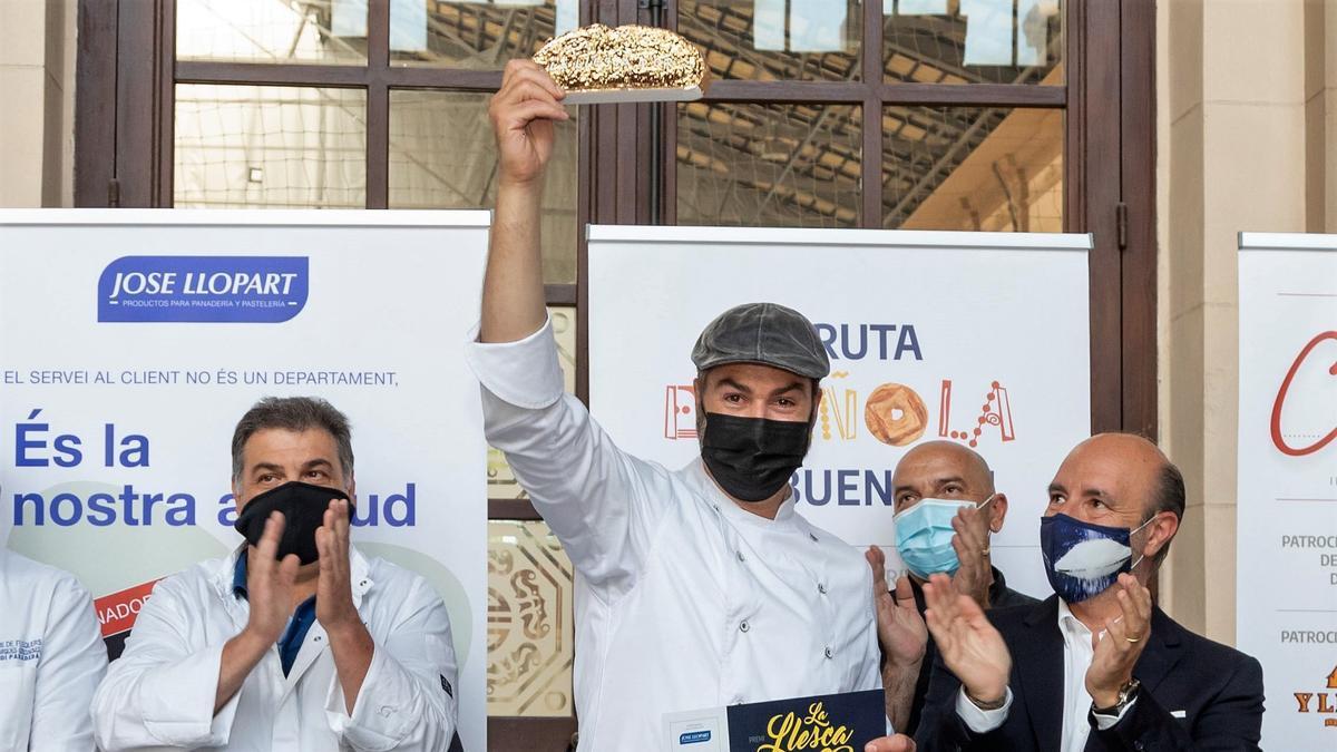 Miquel Saborit, de Més k Pa/Sabors de Torelló, ganador de la Llesca d'Or.