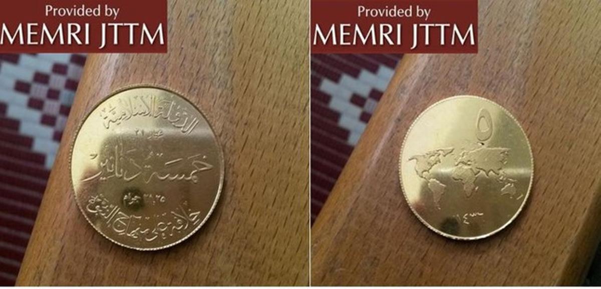 Monedas acuñadas por el Estado Islámico.