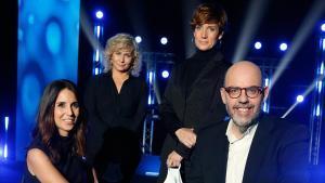 Laura Rosel, Mònica Terribas, Raquel Sans y Jordi Basté, presentadores de 'La Marató' de TV-3.