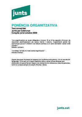 Ponencia organizativa de Junts