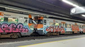 Renfe adverteix una empresa d'esprais per incitar a grafitejar trens