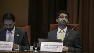 Jordi Puigneró, en la comparecencia ante el Parlament.