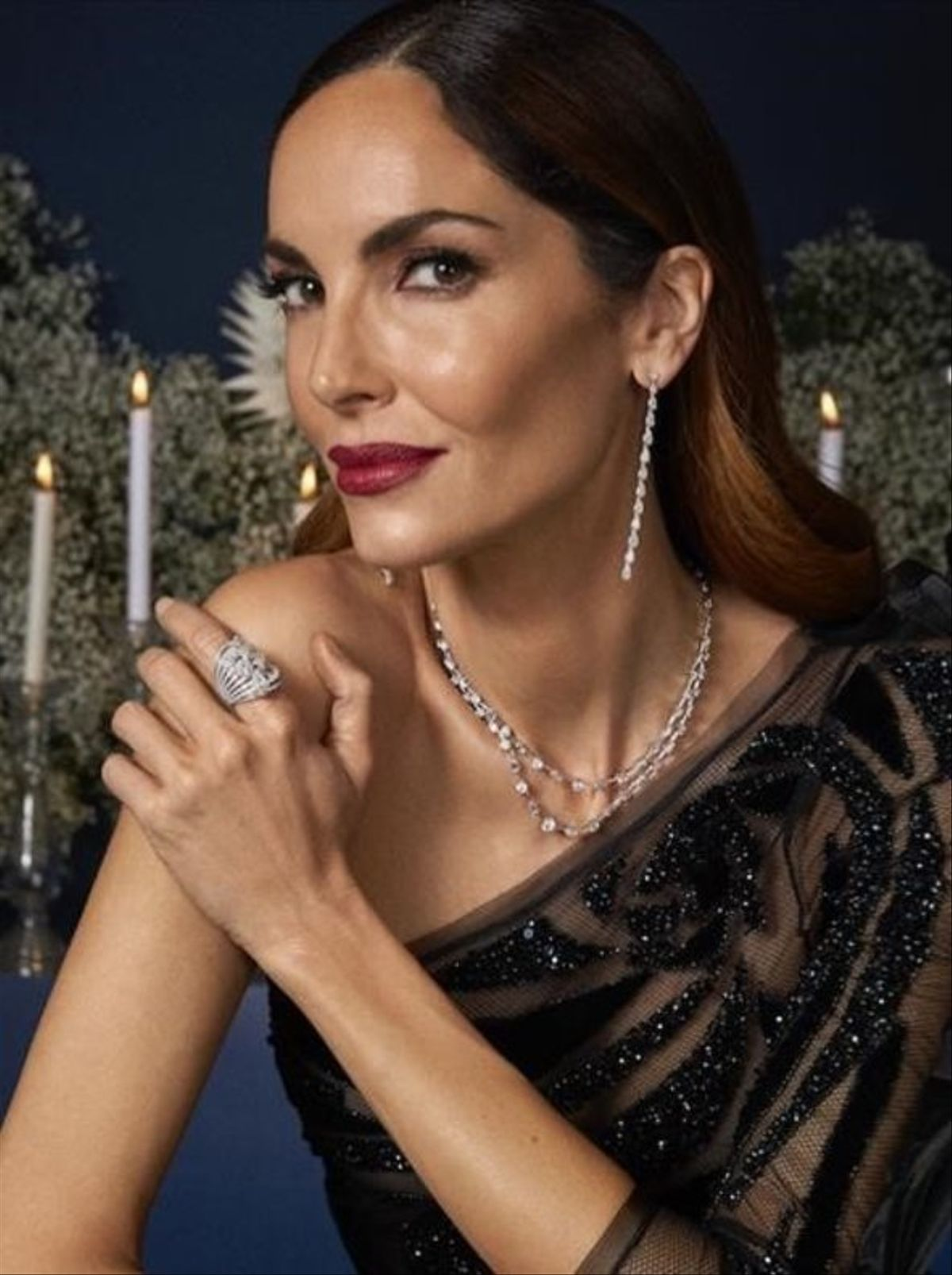 Eugenia Silva, con las joyas de Rabat.