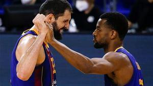 Mirotic y Higgins, dos de los referentes del Barça cara a los cruces europeoss.