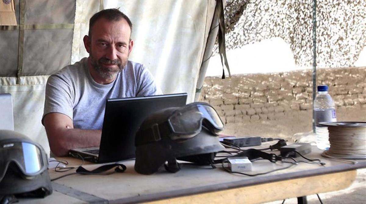 Marc Marginedas, en Afganistán en octubre del 2010.