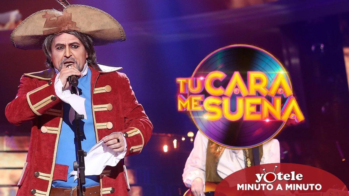 El Monaguillo imitando a Joaquín Sabina en 'Tu cara me suena 8'.