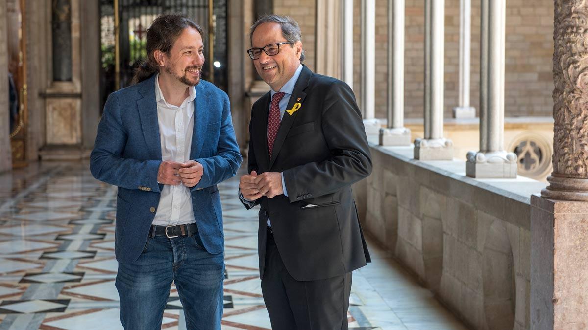 Iglesias s'ofereix com a mediador entre Quim Torra i Pedro Sánchez