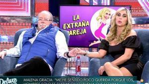 """Malena Gracia y Arévalo hablan de su relación en 'Sábado Deluxe': """"Él me satisface mucho"""""""