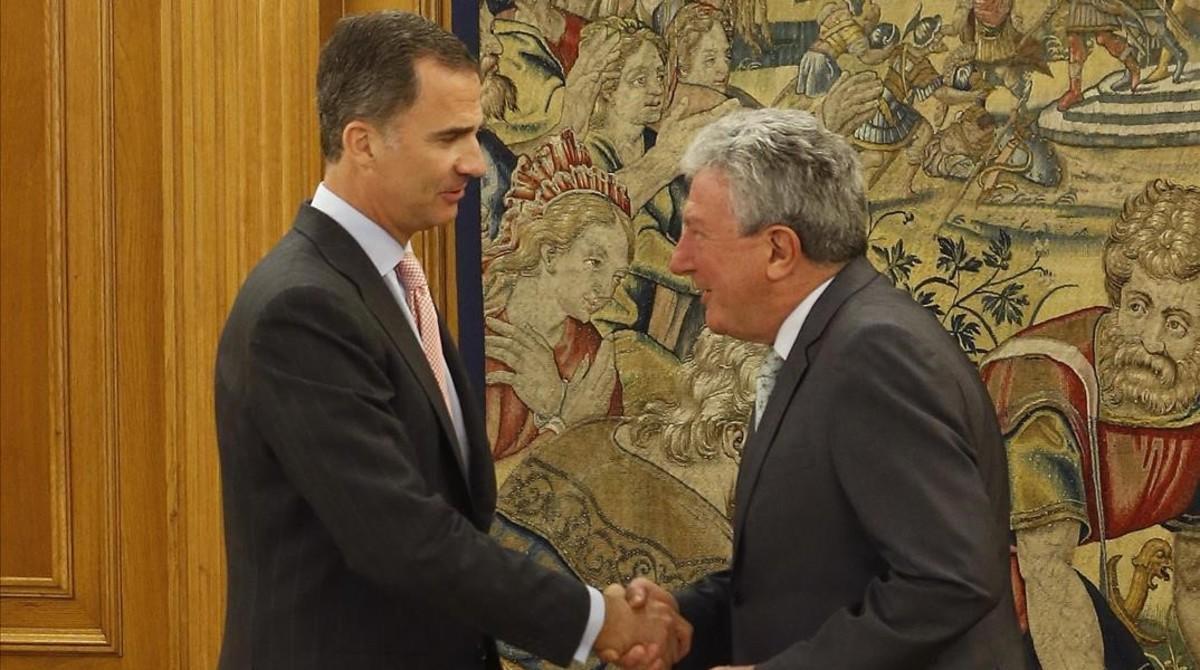 El Rey recibe a Pedro Quevedo, diputado de Nueva Canaria, este martes en la Zarzuela.