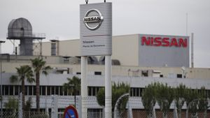 Vaga a la cantina de la fàbrica de Nissan a la Zona Franca