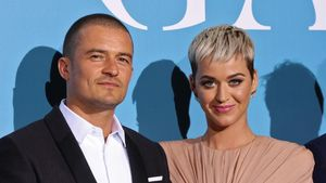 La cantante Katy Perry y su pareja, el actor Orlando Bloom.