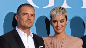 La cantante Katy Perry y su pareja, el actor Orlando Bloom.