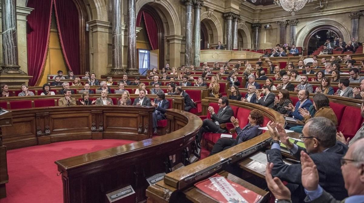 Imagen del Parlament de Catalunya, durante una reciente sesión de trabajo.